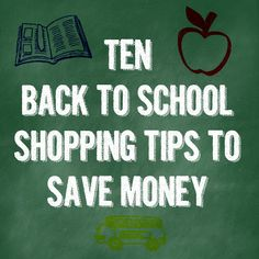10 Back to School Shopping Tips Back To School Shopping, Shopping Hacks, Money Saving Tips, Economics, Good To Know, Teacher, Reading, Books, Household