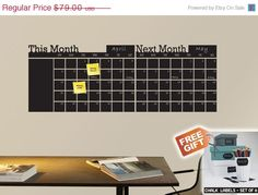 Hey, I found this really awesome Etsy listing at https://www.etsy.com/listing/185918868/monthly-calendar-calendar-chalkboard