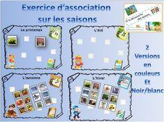 Exercice sur les saisons: association d'images aux saisons