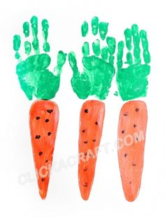 Handprint Carrots - Click on image to see step-by-step tutorial.