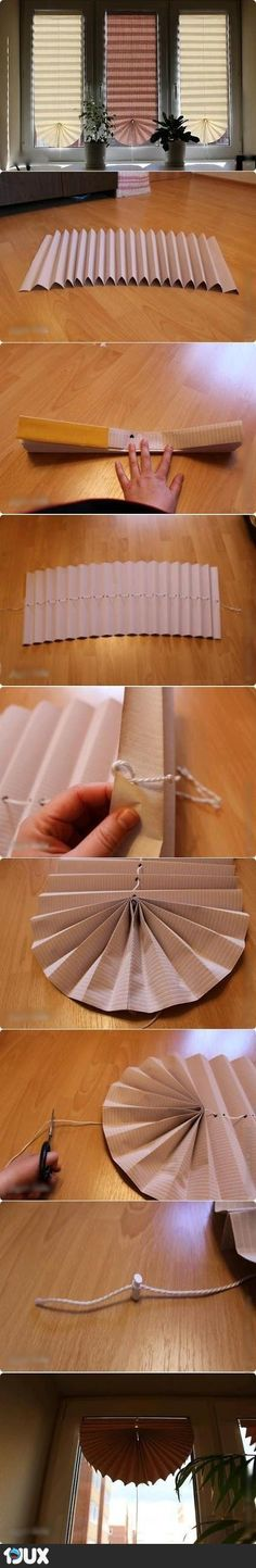 My DIY Projects: Make a Fan Curtain by papers - Crafts Diy Home Do It Yourself Projects, Diy Projects To Try, Diy Paper, Paper Crafting, Fun Crafts, Diy And Crafts, Papier Diy, Diy Fan, Diy Curtains