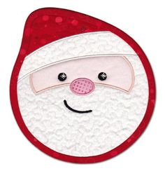 Quilted Santa mug mat