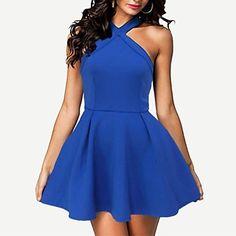 Women's Sexy/Bodycon Stretchy Sleeveless Mini Dress ( Polyester )(1731577) – USD $ 17.39