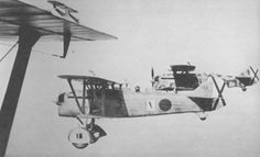 Spain - 1936-39. - GC - Fiat CR.32s in flight over Spain, part of the 'Aviazione Legionaria,' or Legionary Air Force, as the Italian's contribution to the Nationalist air power was called.
