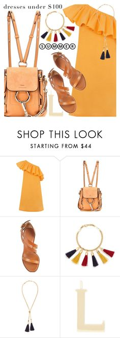 """Under $100: Summer Dresses"" by shoaleh-nia ❤ liked on Polyvore featuring Warehouse and Chloé"
