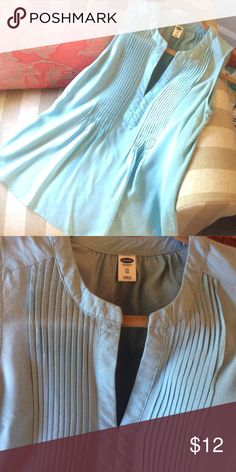 Final markdown! Old Navy blouse Bundle and save! Light blue. Worn and washed once. Old Navy Tops Blouses