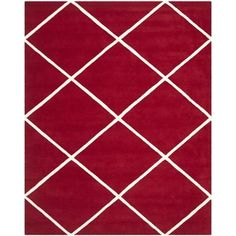 Shop for Safavieh Handmade Moroccan Geometric Red Wool Rug (8' x 10'). Get free shipping at Overstock.com - Your Online Home Decor Outlet Store! Get 5% in rewards with Club O!