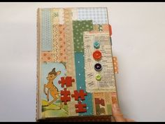 Bright and colourful baby junk journal - YouTube