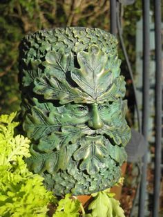 metal Green Man statue