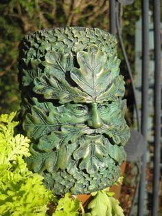 metal Green Man statue