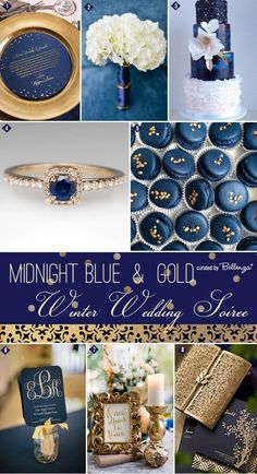 Wintertime! What does it bring to mind? Luxurious details painted in blue and gold, of course! This is the inspiration for today's post: http://www.bellenza.com/wedding-ideas/decorate/midnight-blue-gold-inspiration-winter-wedding-soiree-series.html: