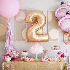 Festa Flamingos tema criativo para meninas em flamingo party