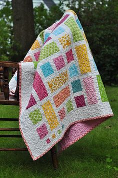 Very simple quilt. Great project for scraps.
