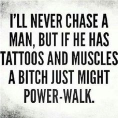Hahaha more like a beard and tattoos