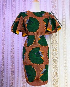 2019 Lovely Ankara Short Gown Styles for African Ladies - Brenda O. 2019 Lovely Ankara Short Gown Styles for African Ladies - African Fashion Ankara, Latest African Fashion Dresses, African Dresses For Women, African Print Fashion, African Attire, African Dress Styles, Latest Ankara Dresses, African Love, Nigerian Fashion