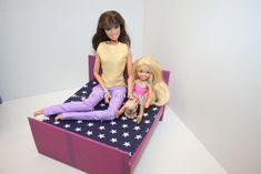Barbie ágy ágyneműtartóval, Barbie hugai, Chelsea,/ Barbie bed, Barbie bed DIY