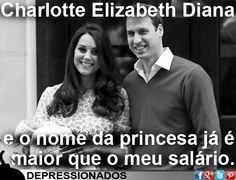 Charlotte Elizabeth Diana. E o nome da princesa já é maior que meu salário.