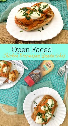 Upgrade your Chicken Parmesan Sandwich in flavor and nutrition with this special ingredient! Best Chicken Recipes, Real Food Recipes, Yummy Recipes, Dinner Recipes, Healthy Recipes, Chicken Parmesan Sandwich, Soup And Sandwich, Yum Yum Chicken, Main Meals