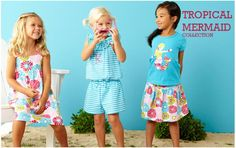 Tropical Mermaid Collection  Shop my website to coordinate the whole family! www.kellyskids.com/michellethompson