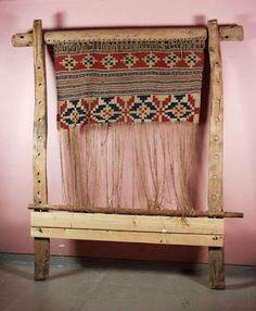 Sami Vertical Looms and Weaving. Photos