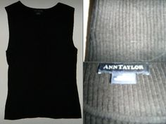 "Ann Taylor Size: Small (S) 100% SILK black sleeveless rib knit sweater $16 - Find it by going to www.LoyalRoyaltyPro.com, click on the ""Miss Anthropy's Boutique"" link on the left sidebar and click on one of the hyperlinks that say ""Miss Anthropy's Boutique"" to be taken to all of my eBay auctions including the one below! Don't forget to check out the other content on www.LoyalRoyaltyPro.com as well!"