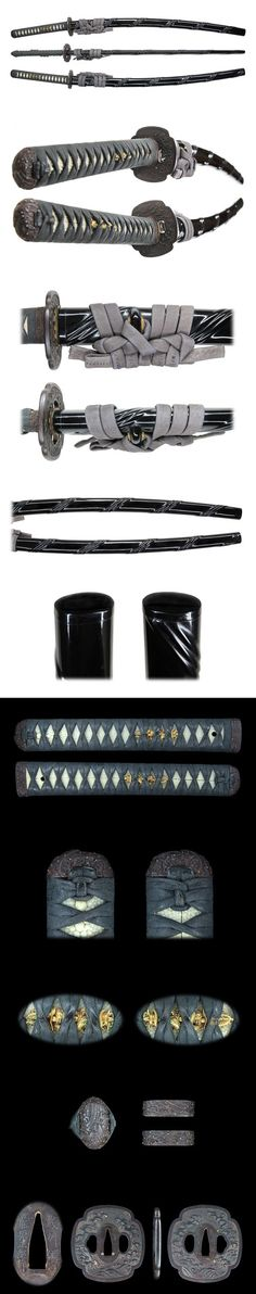 Koshirae (拵え), the ornate mountings of a katana sword. S)