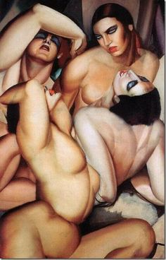 Tamara de Lempicka: Irene and Her Sisters (Group of Four Nudes), 1925.