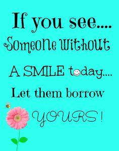 Smile be happy #free #printable