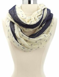 Anchor Infinity Scarf: Charlotte Russe
