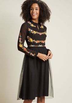 It's your choice to start your story with this black midi dress - a marvelous look from our ModCloth namesake label. How it unfolds is up to fate! Surely,...