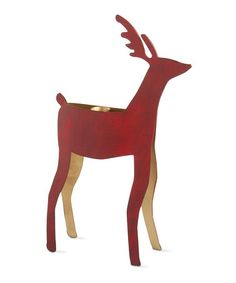 This Red Reindeer Extra-Large Taper Holder is perfect! #zulilyfinds