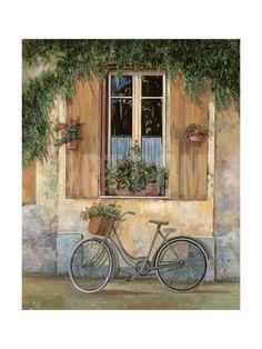 La Bici Giclee Print by Guido Borelli at Art.com
