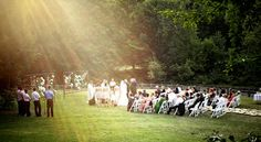 Outdoor wedding ceremomy