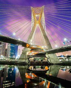 Ponte Estaiada by @vn.nigrofotografia  #saopaulocity #EuVivoSP #ponteestaiada