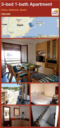 3-bed 1-bath Apartment in Oliva, Valencia, Spain ►€29,000 #PropertyForSaleInSpain