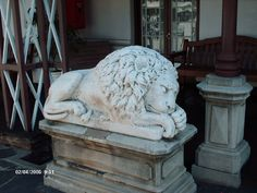 Another interesting feature of the house is two stone lions on the verandah that were presented to President Kruger as a birthday gift on 10 October 1896 by the mining magnate Barney Barnato.