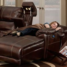 Leather sectional sofa chaise recliner — Interior & Exterior Doors Design   HomeOfficeDecoration