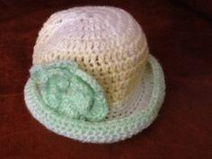 Handmade newborn baby hat by Happilyevercrafts on Etsy, £4.00