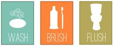 Free Printable Art | Spruce up your bathroom with these three free printable art pieces ...