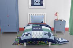 Toddler boys car themed duvet cover Blue Pillow Cases, Blue Pillows, Toddler Duvet Set, Childrens Duvet Covers, Duvet Sets, Quilt Cover, Baby Quilts, Toddler Boys, Plane