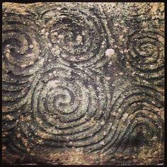 Neolithic art in New Grange, Northern Ireland