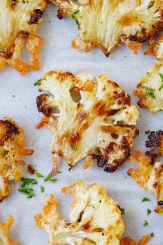 Parmesan Roasted Cauliflower - the most delicious cauliflower ever, roasted with butter, olive oil and Parmesan cheese. SO GOOD you'll want it every day!! | rasamalaysia.com