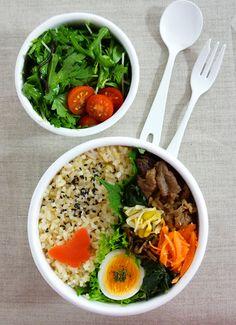Bibimbap Bento - Rice mixed with meat and vegetables ビビンバ弁当