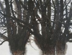 Lin Shun-Shiung(林順雄 Taiwanese, b.1948 )  清霜醉墨香  Watercolor