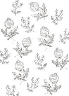 I gravitate towards illustrations that are full of color. But today, I find myself attracted to the line drawings of Ryn Frank. They're simply beautiful! Pattern Illustration, Botanical Illustration, Surface Pattern Design, Pattern Art, Simple Prints, Pretty Patterns, Textile Patterns, Textiles, Illustrations