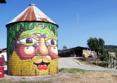 Silos colorato in stile arcimboldo by Pao e Rouge (2)  Artists: Pao e Rouge www.vermidirouge.com Title: Arcimboldo Where: Valli Unite - Cascina Montesoro 15050 - Costa Vescovato (AL) Italy  www.v...