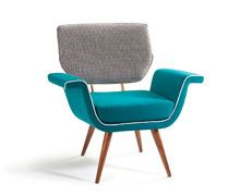 Mambo Ivy w:83cm d:65cm h:80cm  fabric and/or leather, solid wood and brass/metal