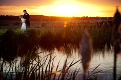 Beautiful sunset #Wedding #ukwedding #love #tomhallidayphoto #sunset #bride #groom #warm #orangesky