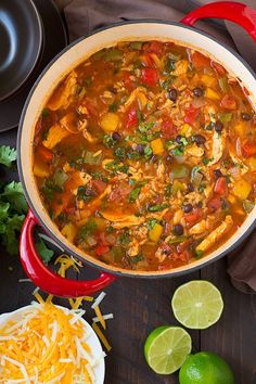 Yet one more thing I had to try in soup form, because it is fall after all! I've always loved chicken fajitas and I love soup just as much so the two are just meant to cometogether right? I've already made this soup twice in two weeks! It's easy to make and it's packed with all the flavors of classic chicken