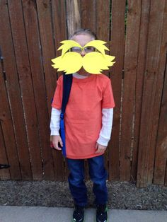 Diy dr seuss lorax costume super easy i used 2 different shades lorax costume for national book day solutioingenieria Choice Image